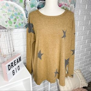 First Love NEW Star Print Long Sleeve Top